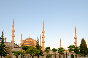 Blue Mosque in Istanbul in the morning