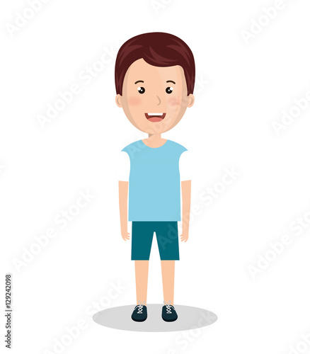 Cute Boy Character Design : Quot cute boy character icon vector illustration design stock