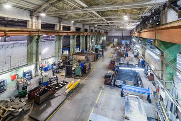Industrial production workshop