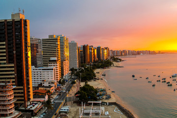 Acrylic Prints Brazil Sunset in Fortaleza, Brazil