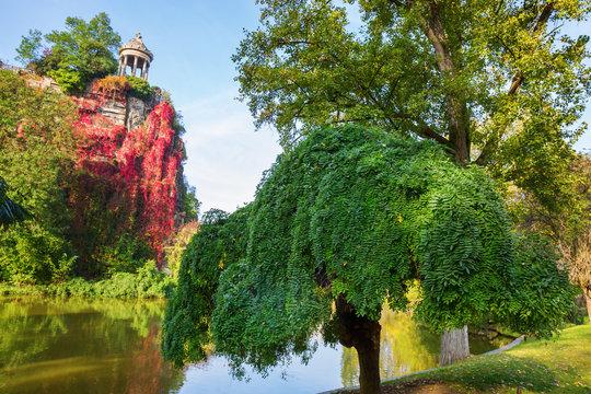 Temple in the park Buttes Chaumont, Paris, France