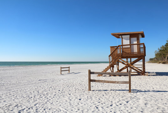 Coquina beach on Anna Maria Island, Florida