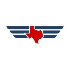 Texas wing logo.