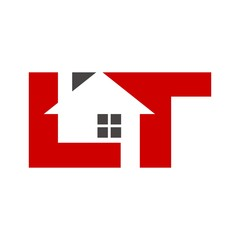 letter L and T logo vector.