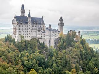 Neuschwanstein castle under cloudy sky