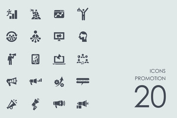 Set of promotion icons