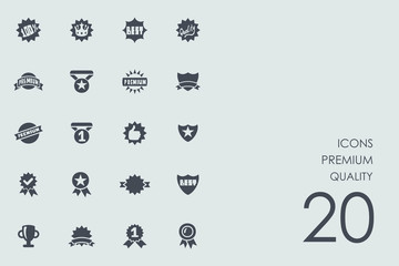 Set of premium quality icons