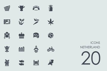 Set of Netherland icons