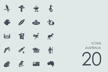 Set of Australia icons