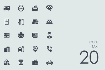 Set of taxi icons