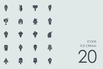 Set of Ice cream icons
