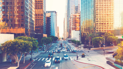 View of Los Angeles rush hour traffic