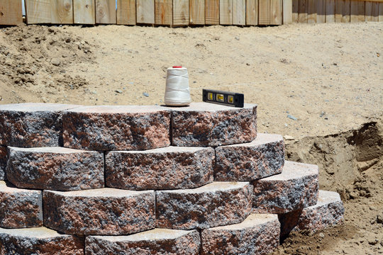 Wall String Level/retaining wall Landscaping bricks with level and string