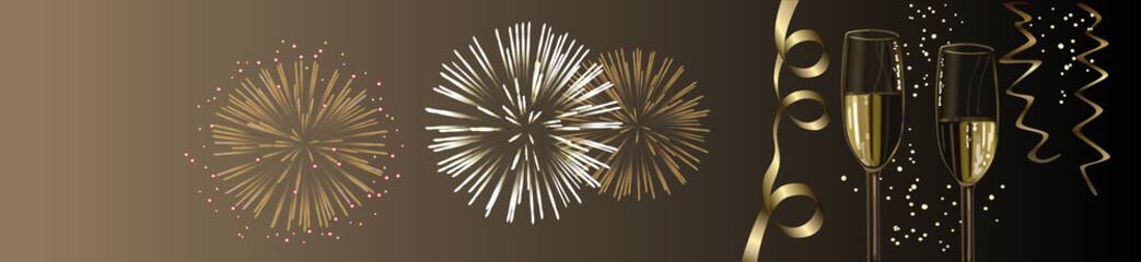 Feuerwerk / Silvester Vektor Hintergrund