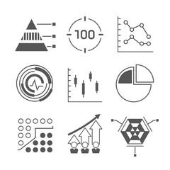 network icons, data analytics icons