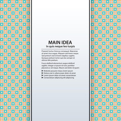 Text background with colorful pixelated pattern. Useful for presentations, advertising and web design.