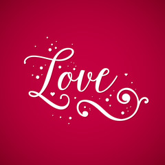 "Valentine's Day background with word ""Love"". Useful for cards, invitations and valentines."