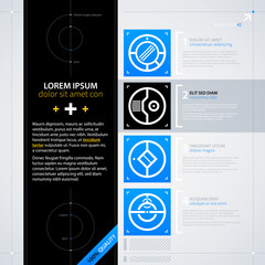 Modern text background template. Futuristic techno business style. Useful for annual reports, presentations and advertising.