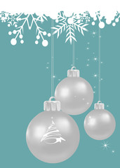 Christmas Festive background with grey balls