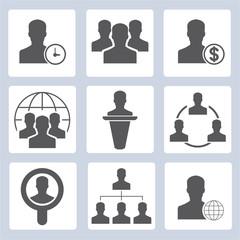 professional management, business management icons