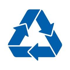 recycle arrow logo vector