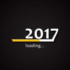 Loading 2017 inscription bar - flat design template, yellow edition