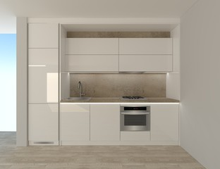Modern White Kitchen Project
