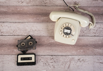 Vintage photo of an old phone