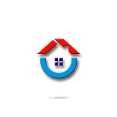 home, house, building, apartment, estate, logo, icon, symbol