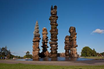 Fontaine in town of Kerikeri in New Zealand