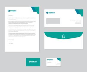 White corporate stationery template design