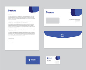 White corporate stationery template design