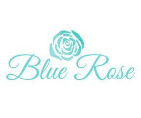 Watercolor Blue Rose Vector Logo