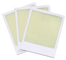 Blank Polaroid film layout.