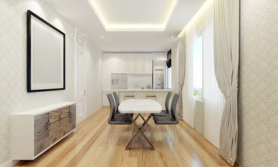 The luxury dining and pantry room design