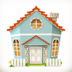 House, home. 3d vector icon