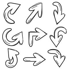 cartoon arrows, doodle arrows