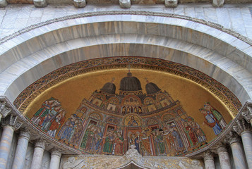 mosaic placed over the entrance of the St. Mark Basilica