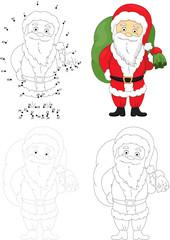 Christmas Santa (St Nicolas). Dot to dot game for kids