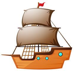 Sailboat made of wood