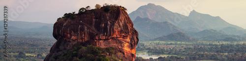 Sunset over the Lion Rock in Sigiriya, Sri Lanka