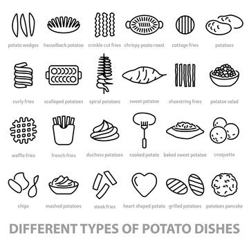 different types of potato dishes
