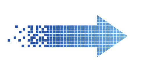freccia, pixel, connessione, internet, velocità