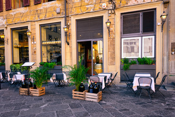 Old cozy street in Florence, Tuscany. Italy
