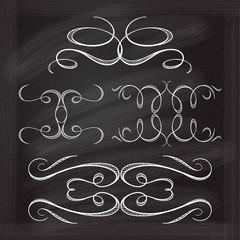 Vector calligraphic design elements.
