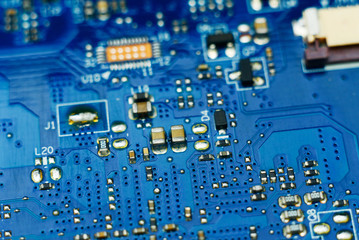 Printed circuit board close up
