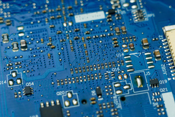 The printed circuit board close up