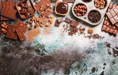 Assortment of chocolate types