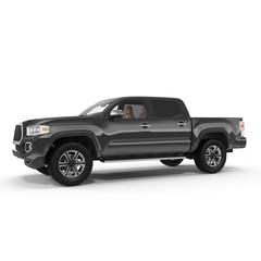 Black Pick up Truck on white. 3D illustration
