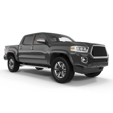 Pickup Truck on white. 3D illustration